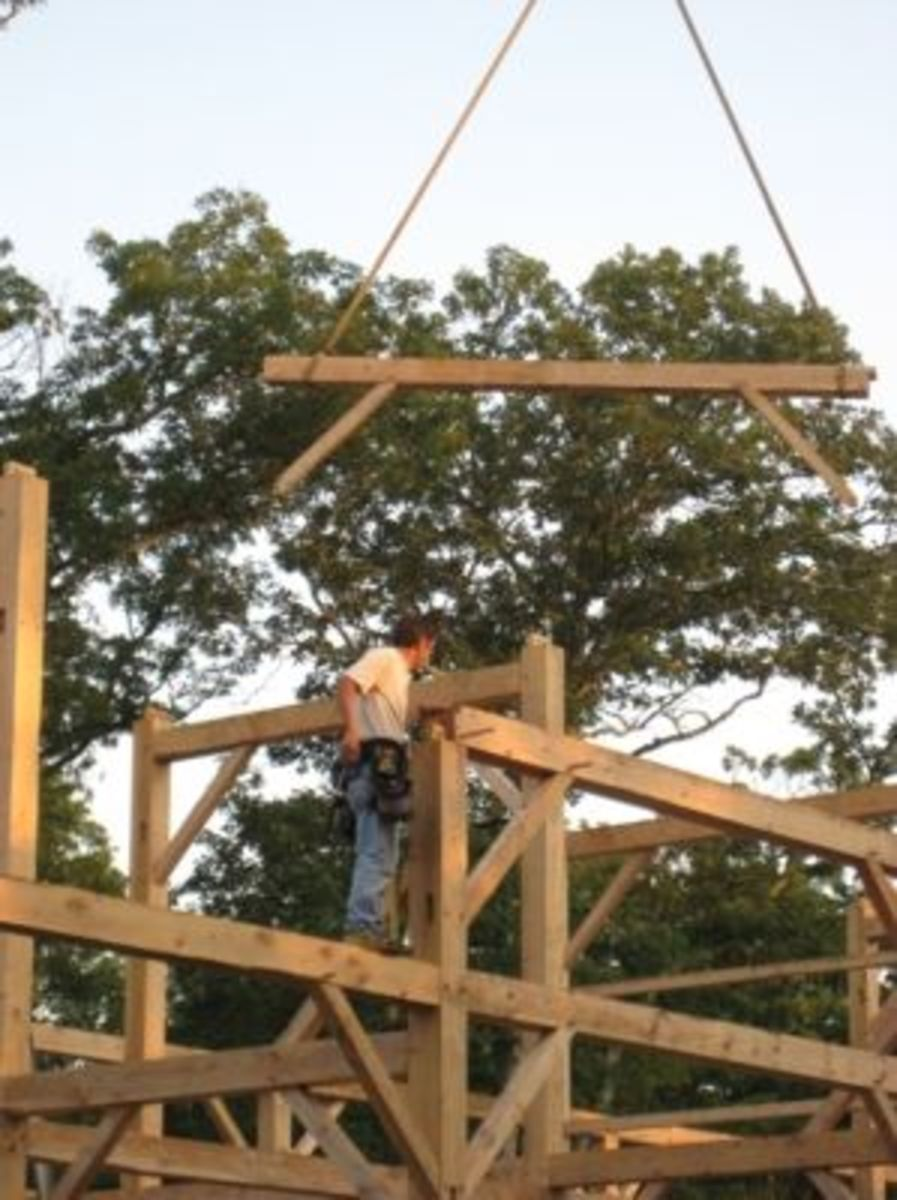 Raising the Barn for the new location of the West Tisbury Agricultural Fair