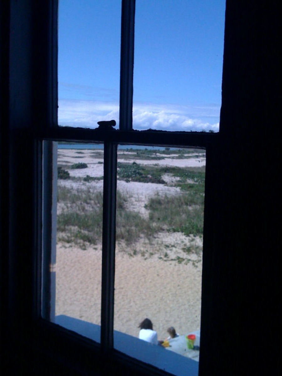 View from inside the Edgar Town Lighthouse