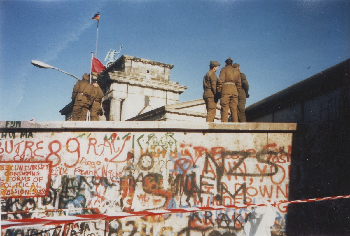 The Berlin Wall c1989.