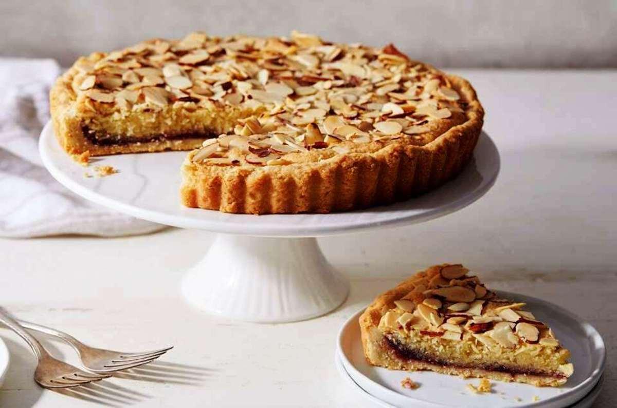 British almond jam tart (blackwell tart)