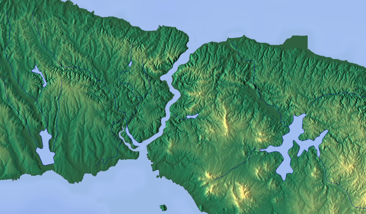 The Turkish Straits are a navigatable waterway that separate the Mediterranean Sea from the Black Sea.