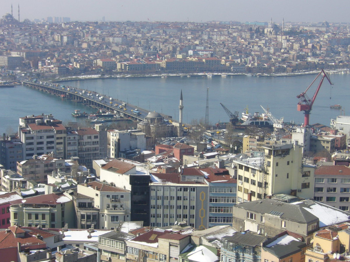 The Ataturk Bridge.