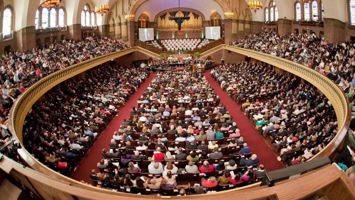The Moody Church, of which I am a member, in Chicago