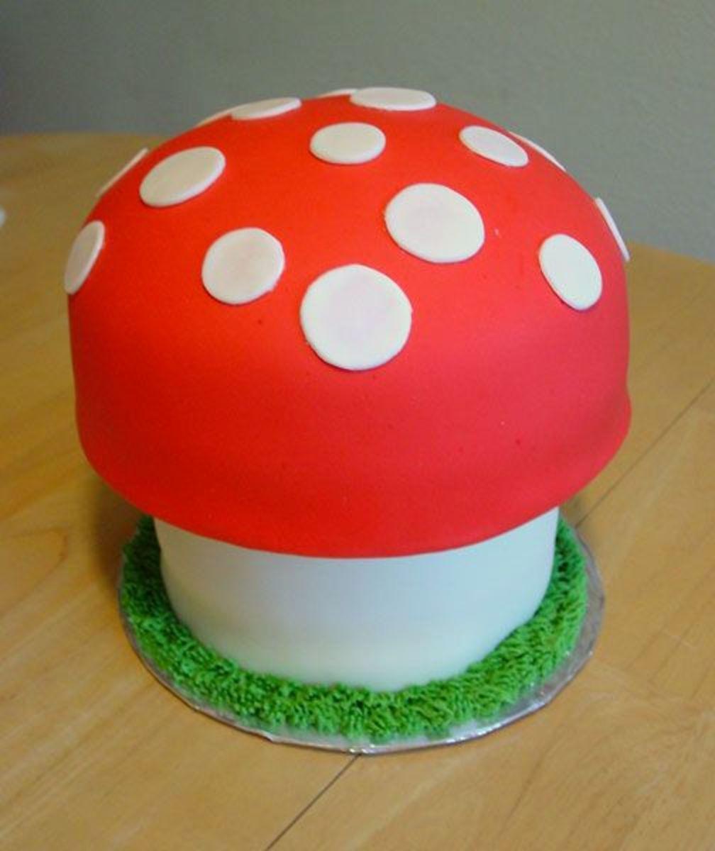Awesome mushroom cake