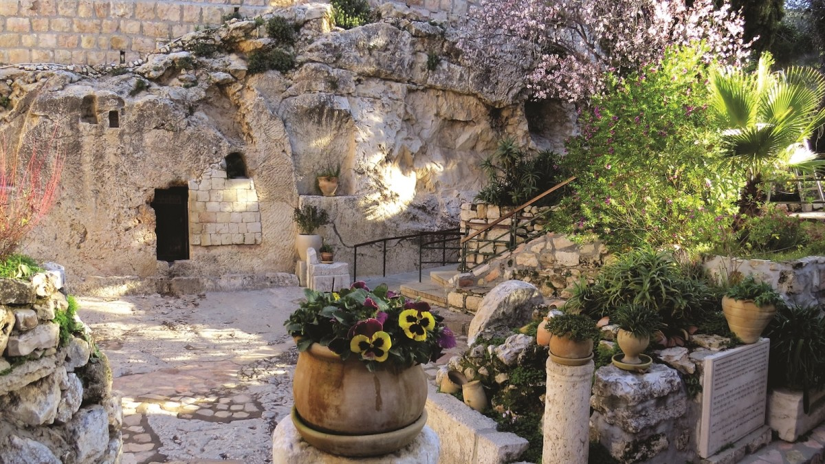 The Garden Tomb, one of the places associated with Christ;s burial.