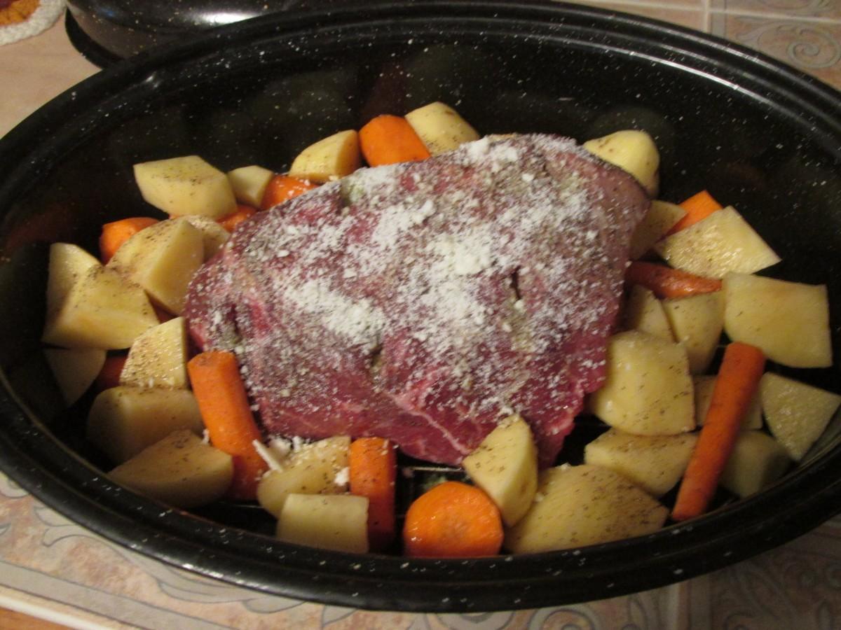Roast Beef Dinner All In One Pan