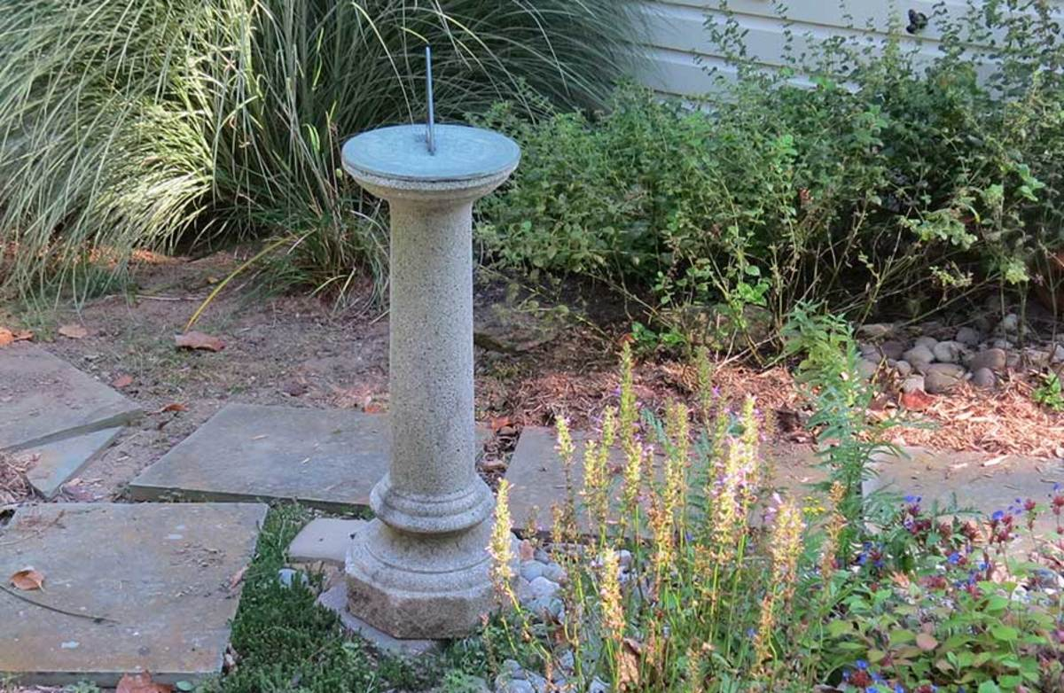 Or set the sundial on a pedestal to add height variety to your garden.