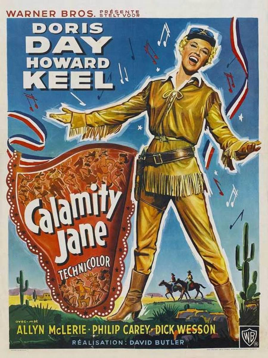 Calamity Jane (1953) Belgian poster
