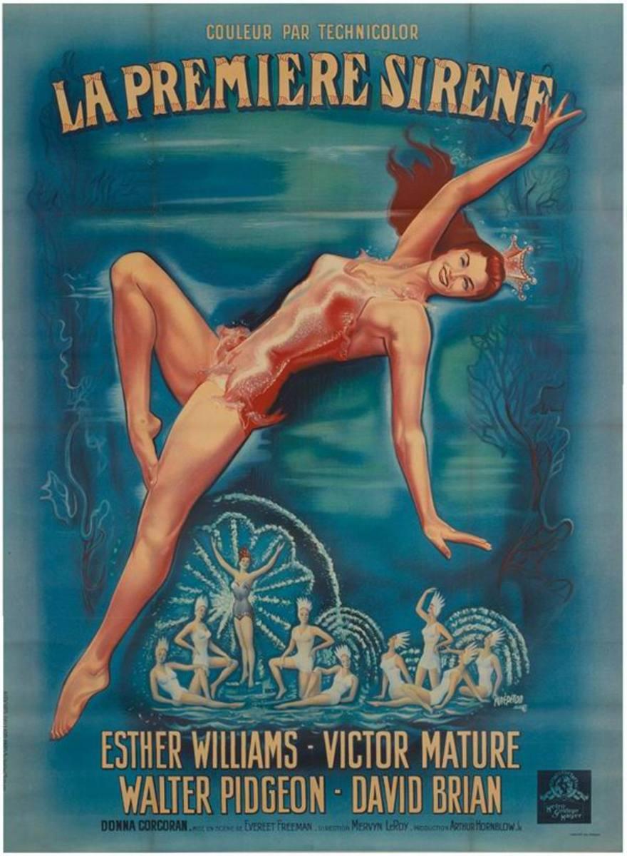 Million Dollar Mermaid (1952) French poster
