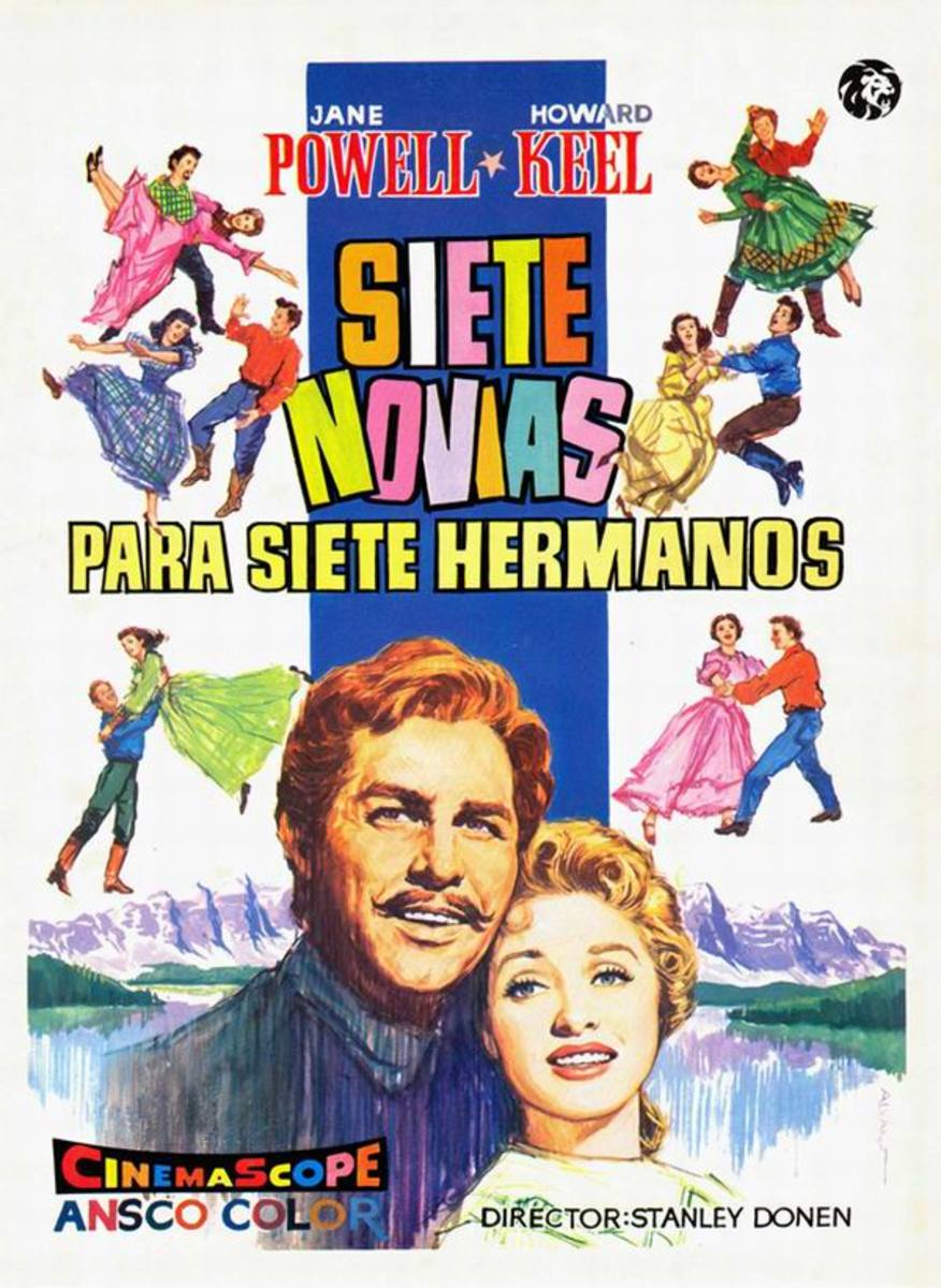 Seven Brides for Seven Brothers (1954) Spanish poster