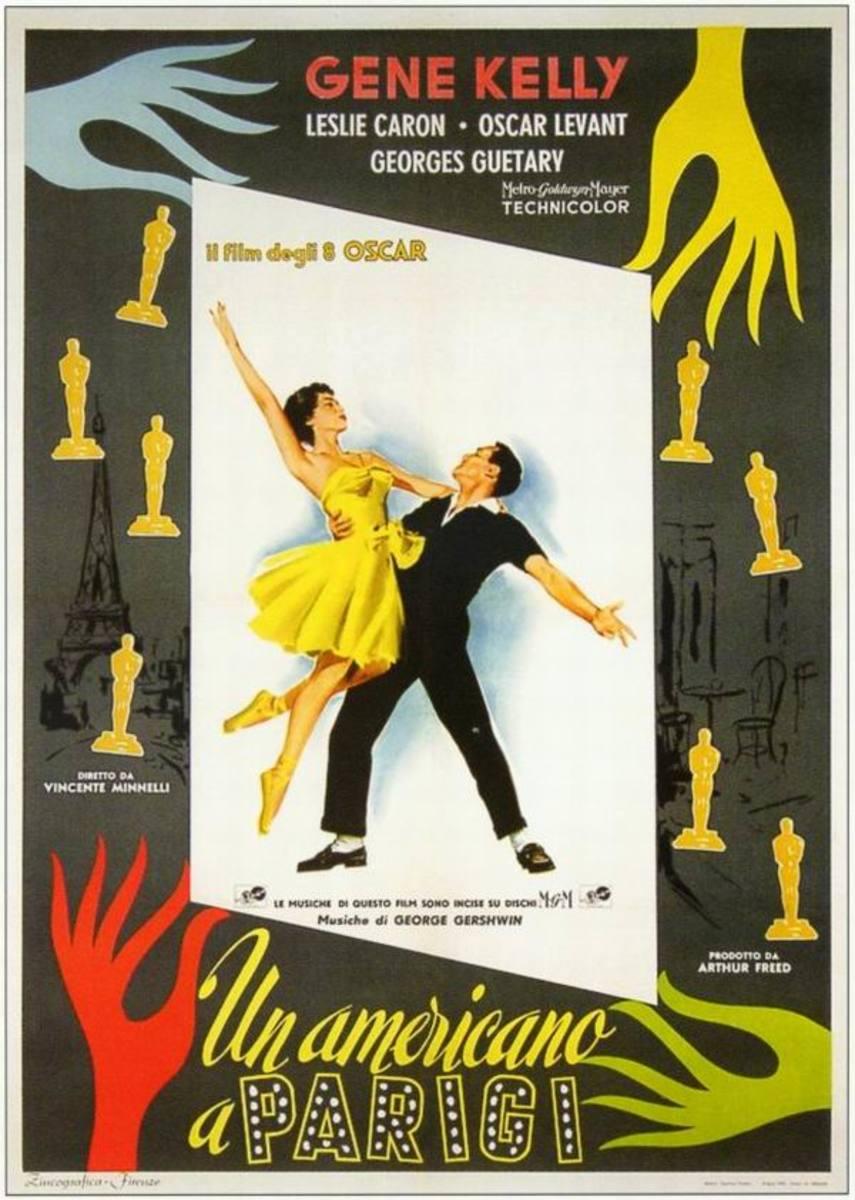 An American in Paris (1951) Italian poster