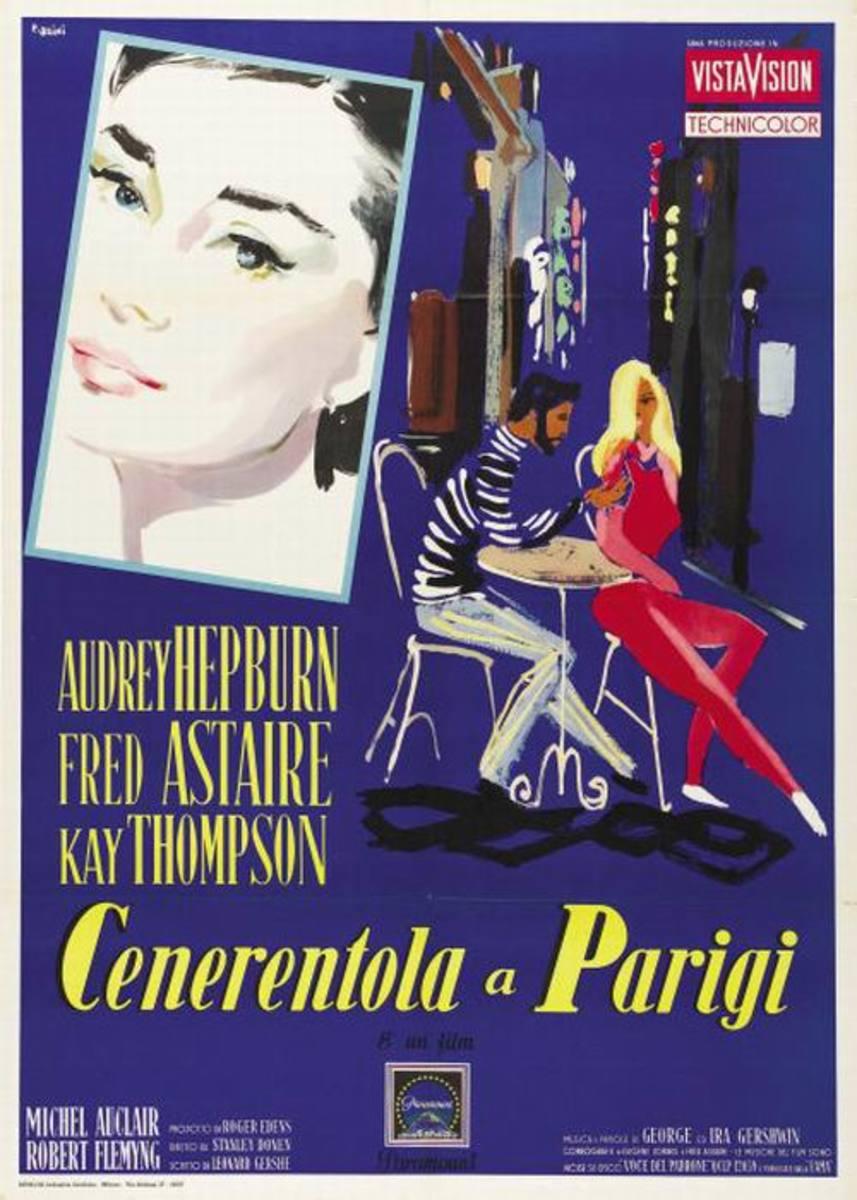 Funny Face (1957) Italian poster