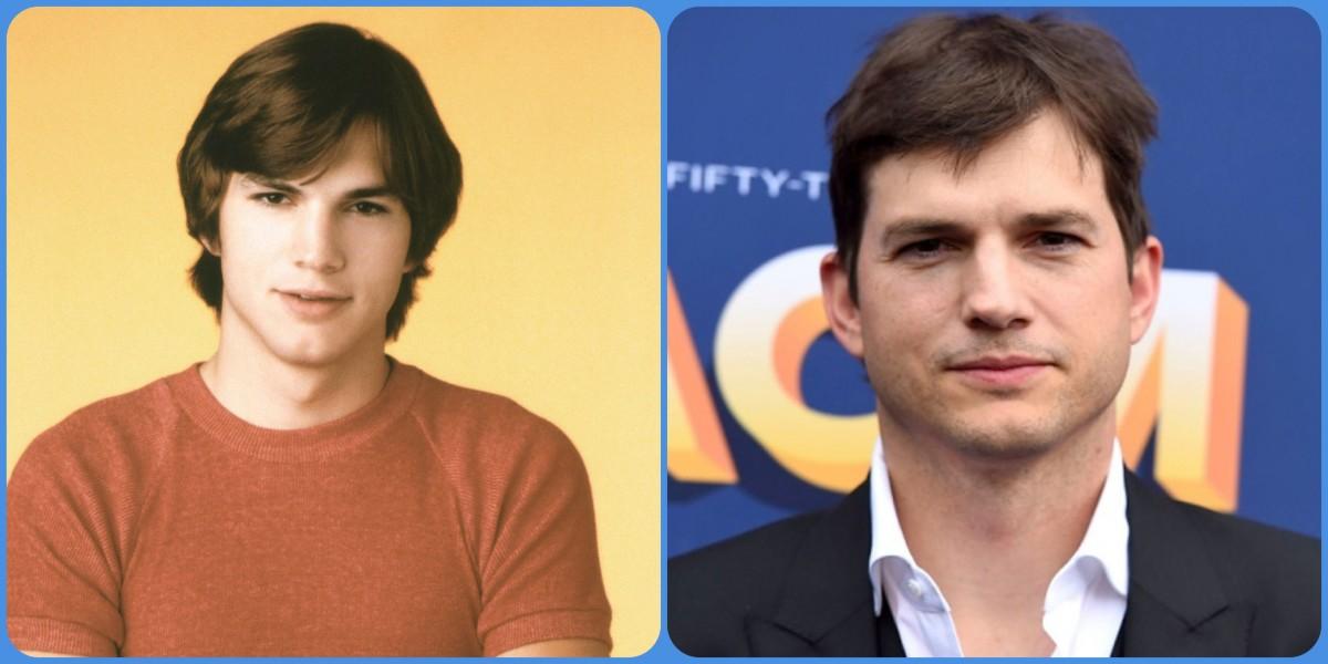 Ashton Kutcher then and now