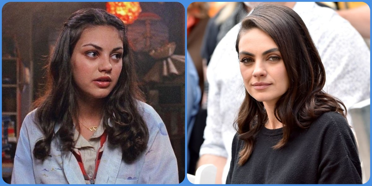 Mila Kunis then and now