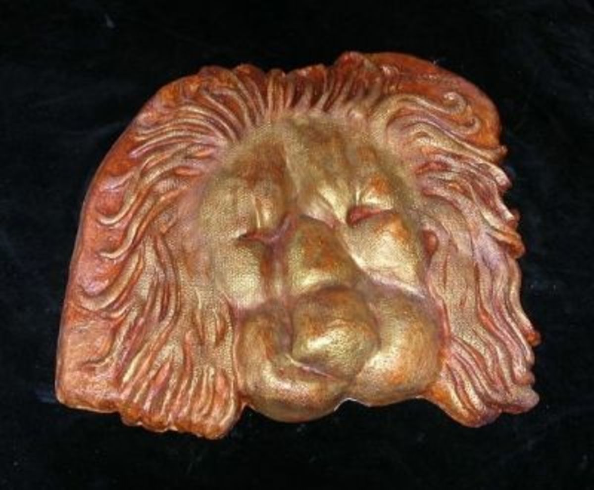 Sleeping Lion (Mask) by Frankie Kangas