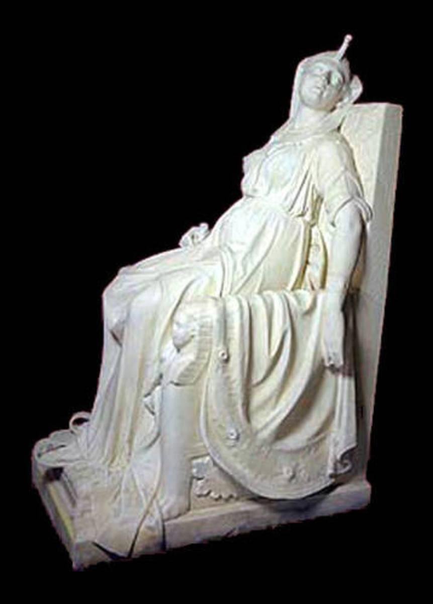 "Edmonia Lewis ""Death of Cleopatra"" Marble 1875"