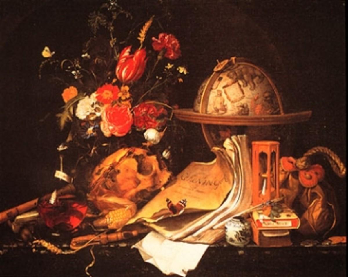 """Maria van Oosterwijk """"Vanitas Still Life""""  Oil 17th Century"""