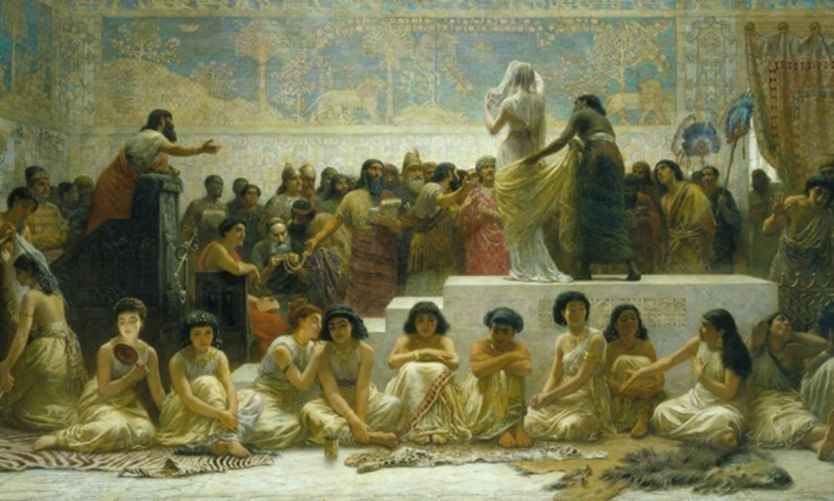 According to Herodotus, unmarried women were yearly sold by auction in Ancient Mesopotamia.