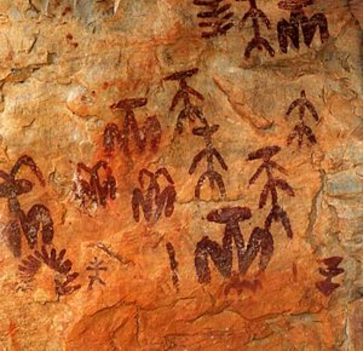 Cave paintings from the paleolithic period, Sierra Madrona