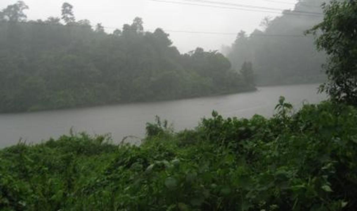 Scenery from Maniyar Dam