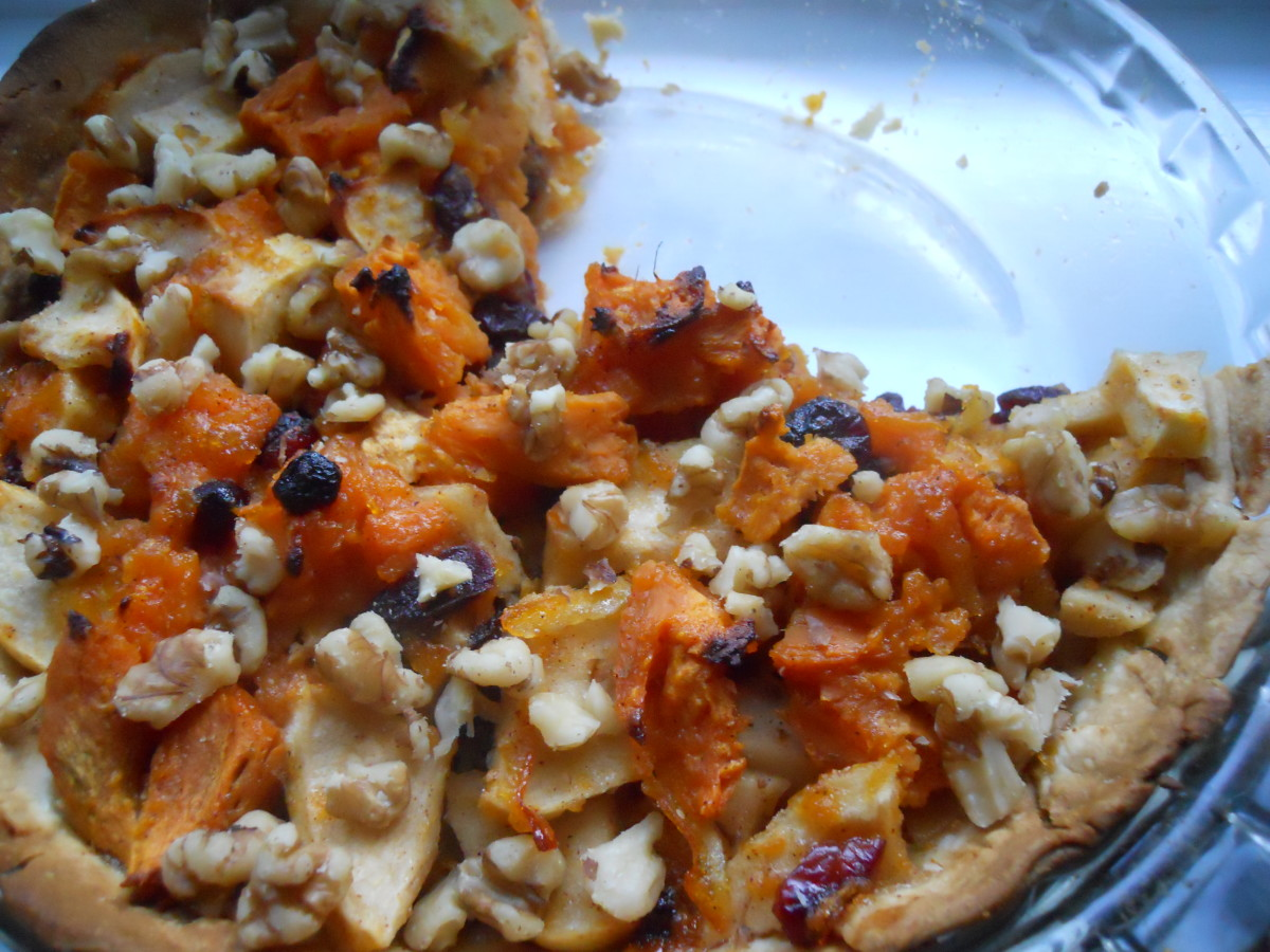 Chunky Apple Sweet Potato Pie