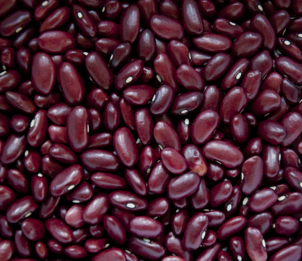 Red Honduran-grown beans.
