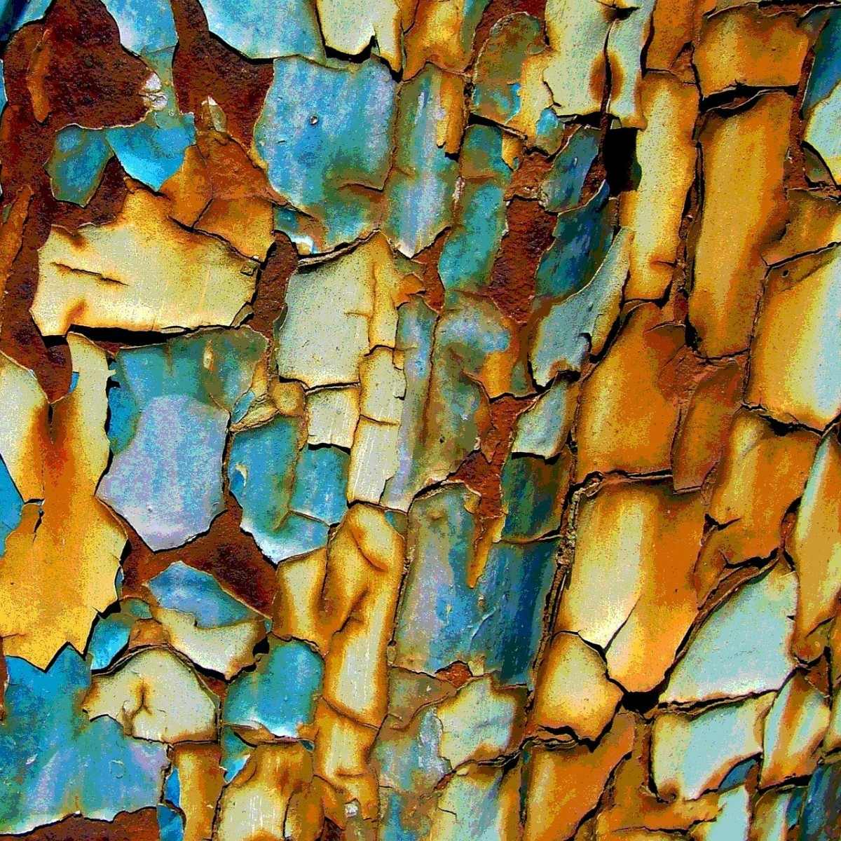 Rust on a shipping container