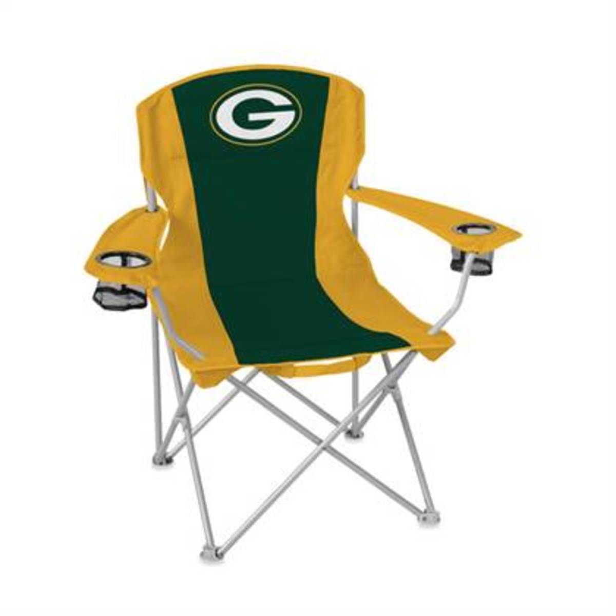 Football Fan Gift Idea - Quad Chair or Lawn Chair with Team logo - Green Bay Packers Example Football Fan Gift Idea with Team logo - Green Bay Packers Example