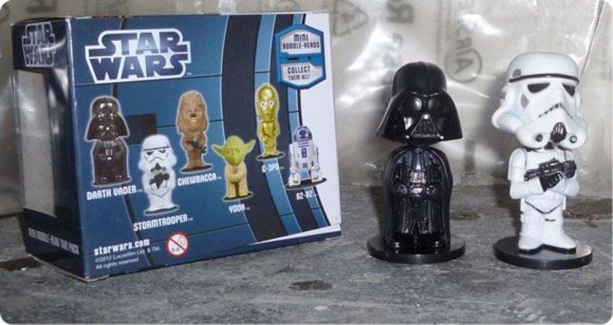 Funko Darth Vader and Stormtrooper Ultra Mini bobble-heads