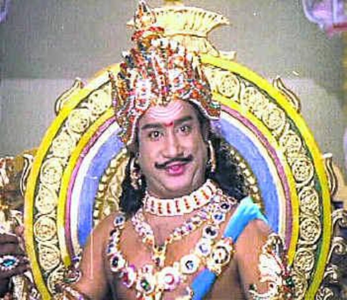 Dr.Sivaji Ganesan As Raja Raja Cholan from one of his acted Movie named 'Raja Raja Cholan'