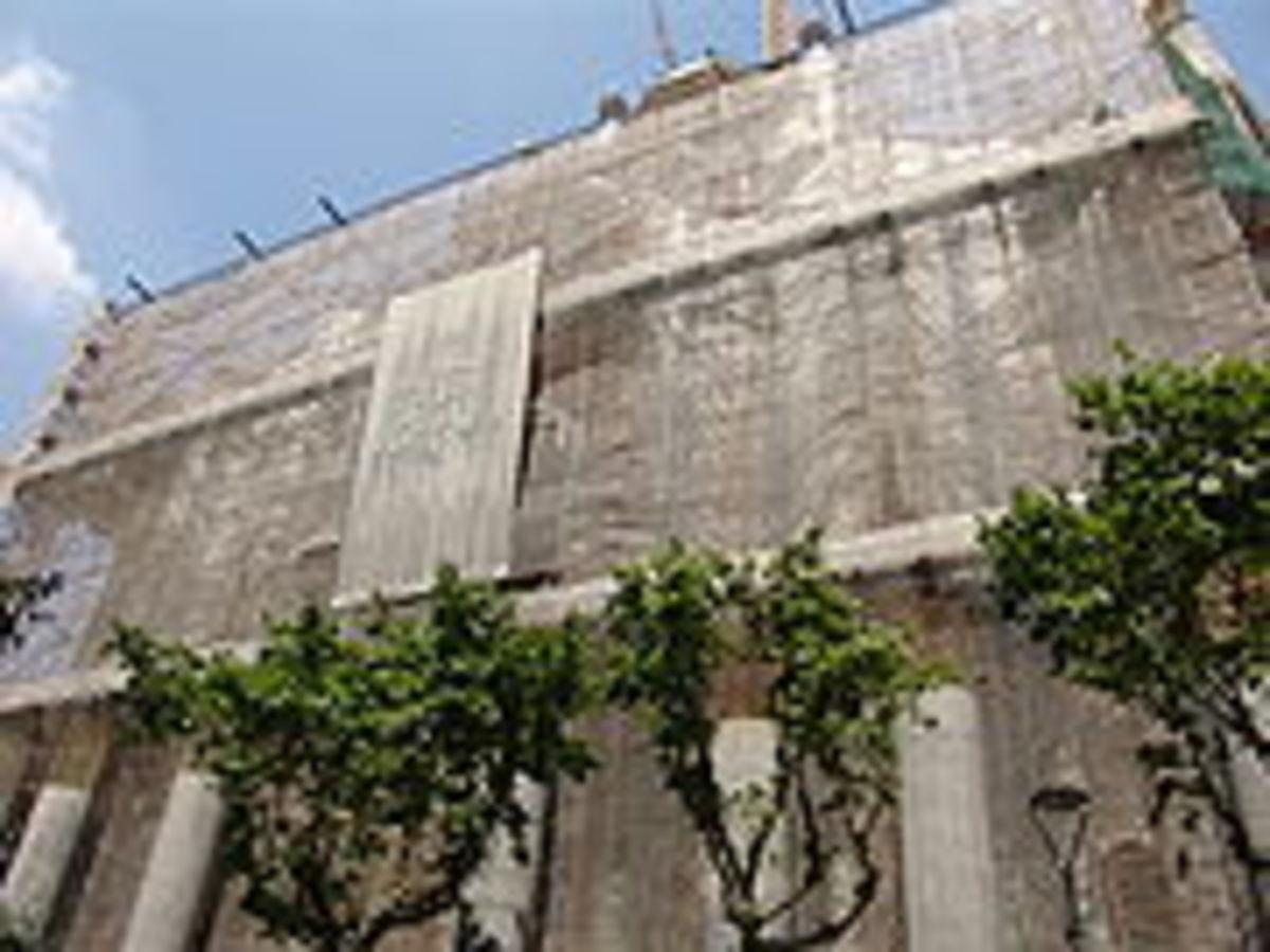 Passion facade of the Basilica.