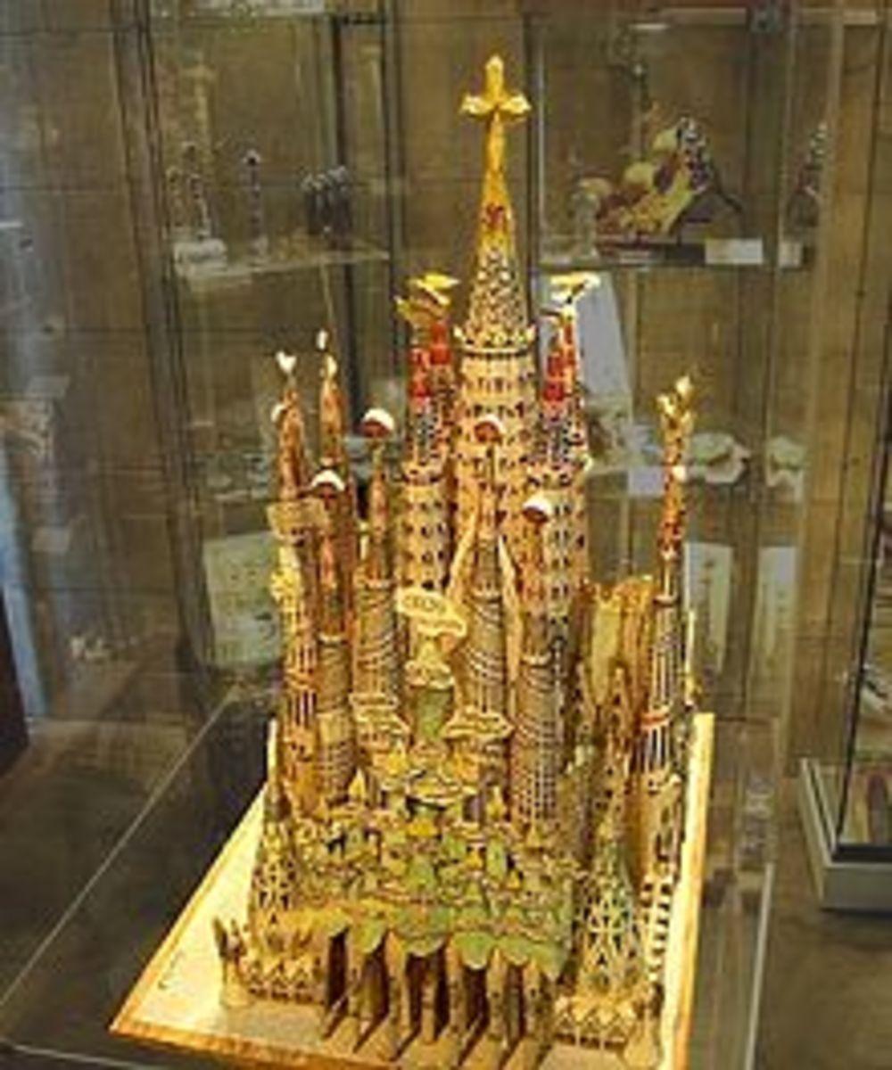 The original model of the Basilica of the Sagrada Familia as designed by Antoni Gaudi.