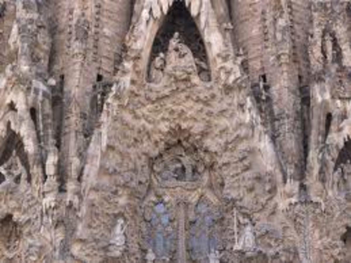 Nativity facade of the Basilica.