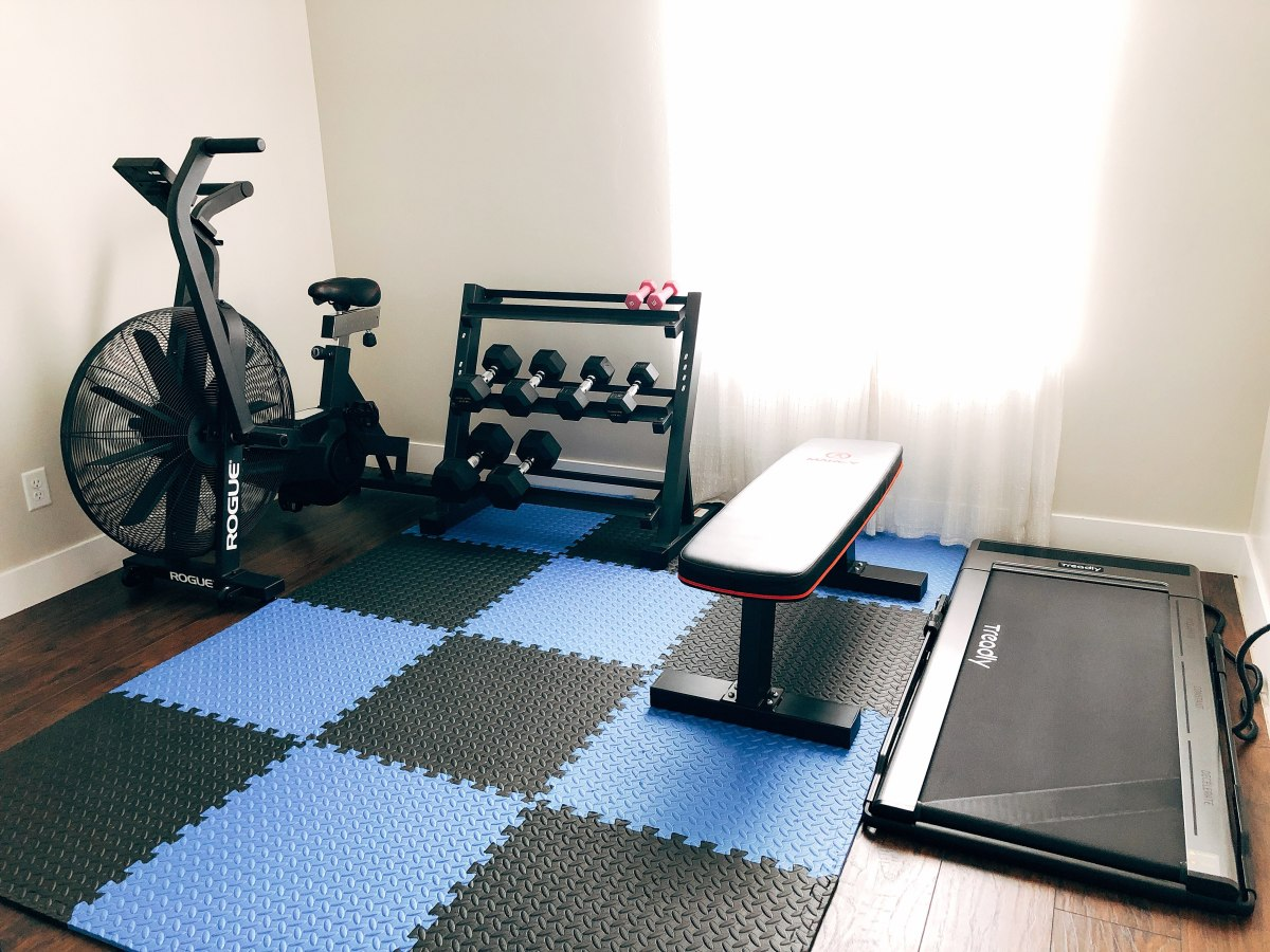 My home gym equipment is basic. However, I love working out here every day.