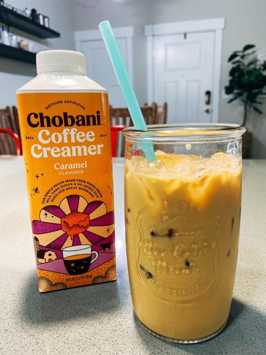 Caramel iced latte.