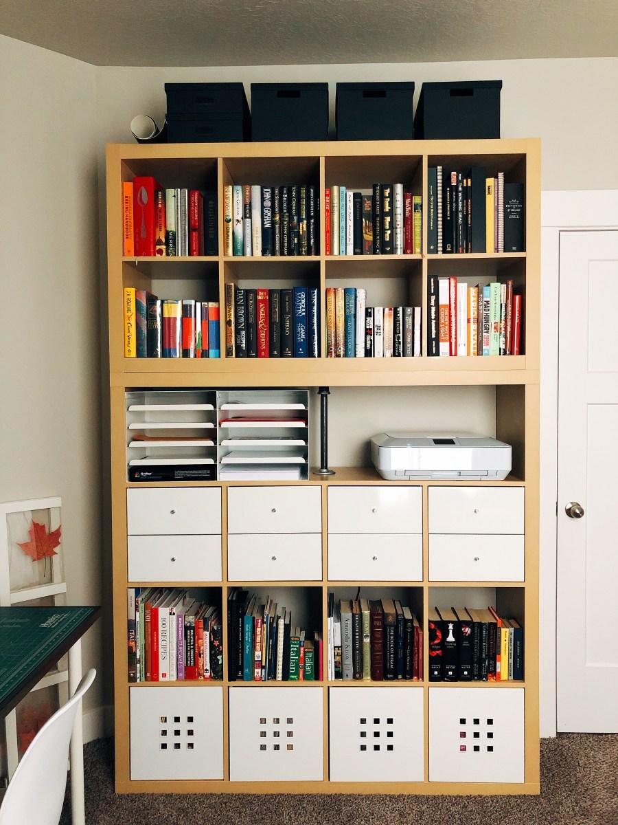 Organize the bookshelves.