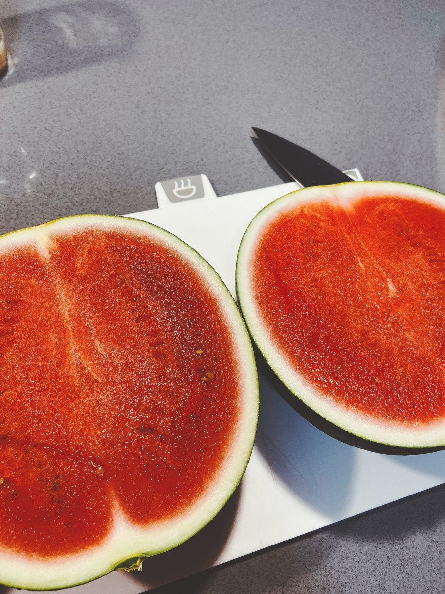 Sweet red and juicy watermelon.