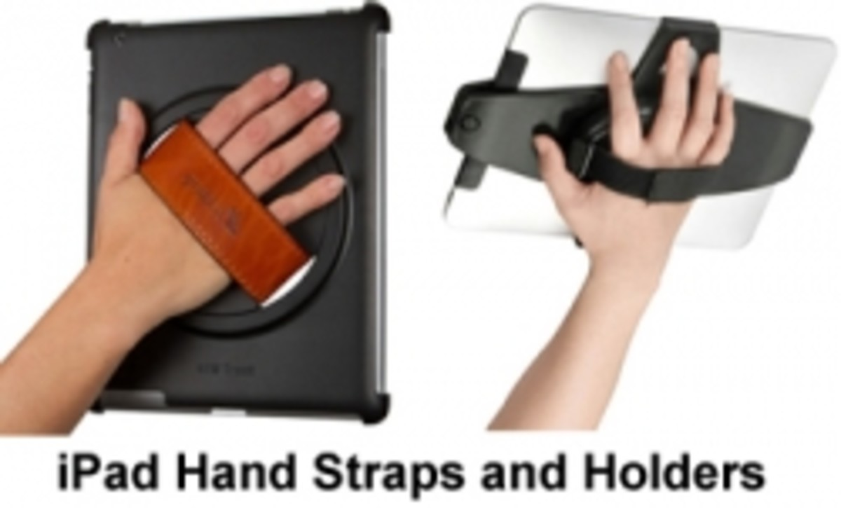 iPad Hand Strap Holders - iPad Covers With Security Handle Strap Grip