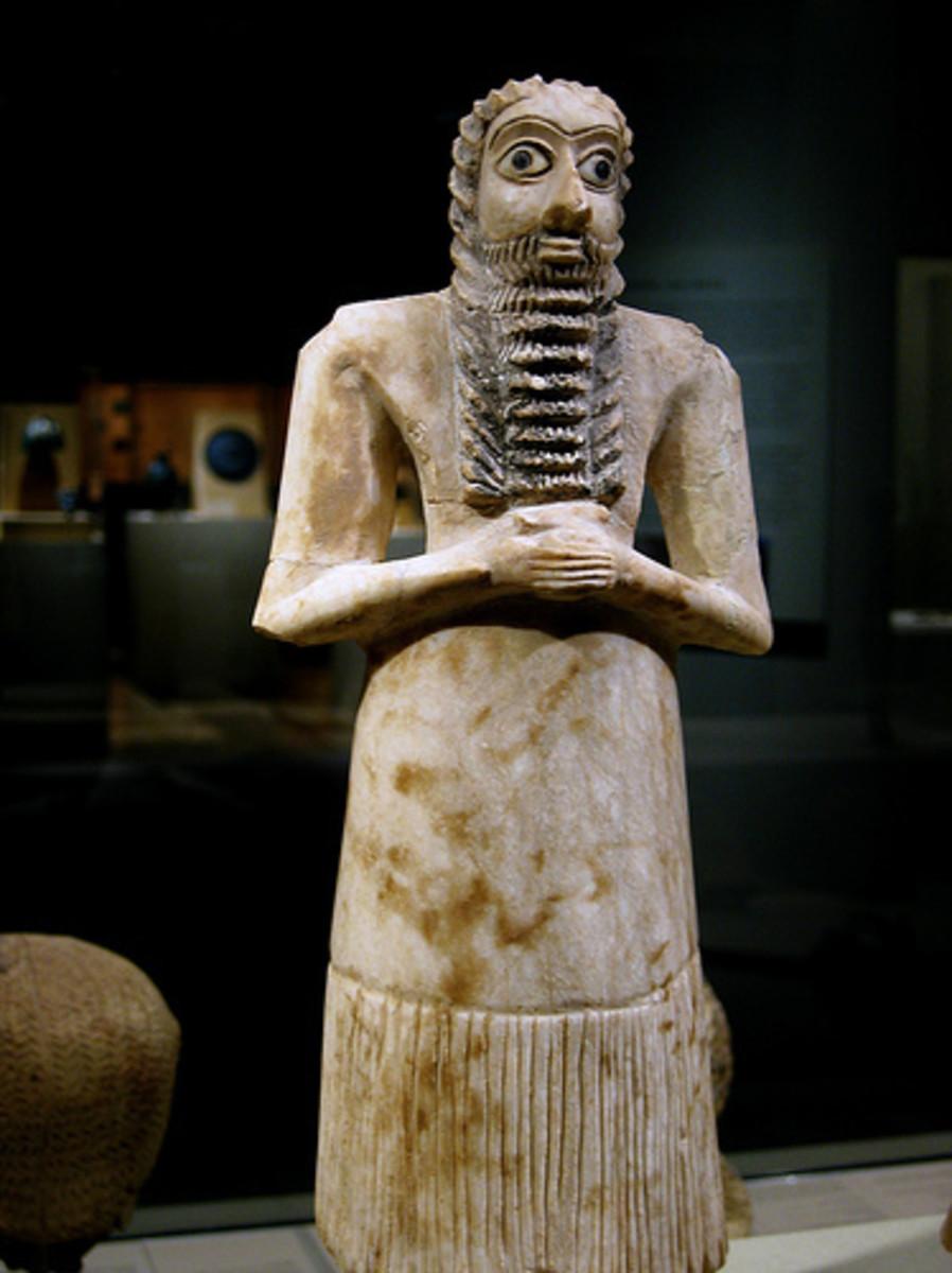 Sumerian men wore dresses.
