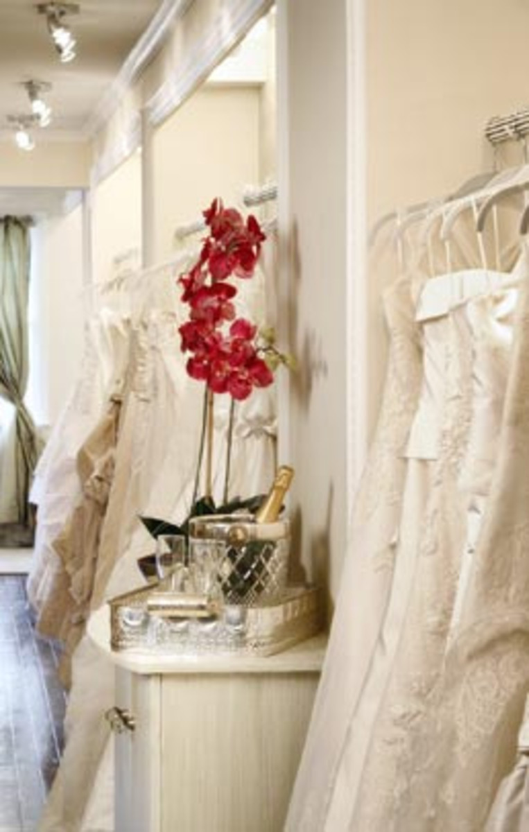 You will be spending a lot of time at the bridal salon; be sure to shop where they treat you well.
