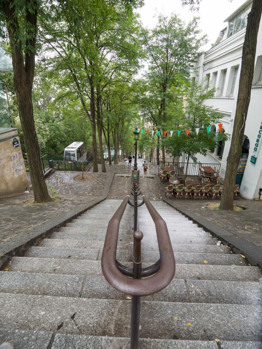 Montmartre Staircase: Rue Foyatier, Paris