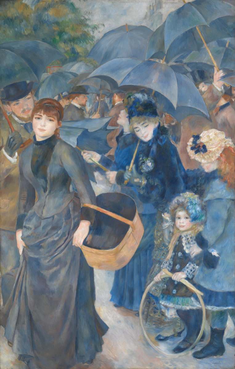 Renoir's The Umbrellas, c. 1881-86. (NB: figure depicted at left is Suzanne Valadon)