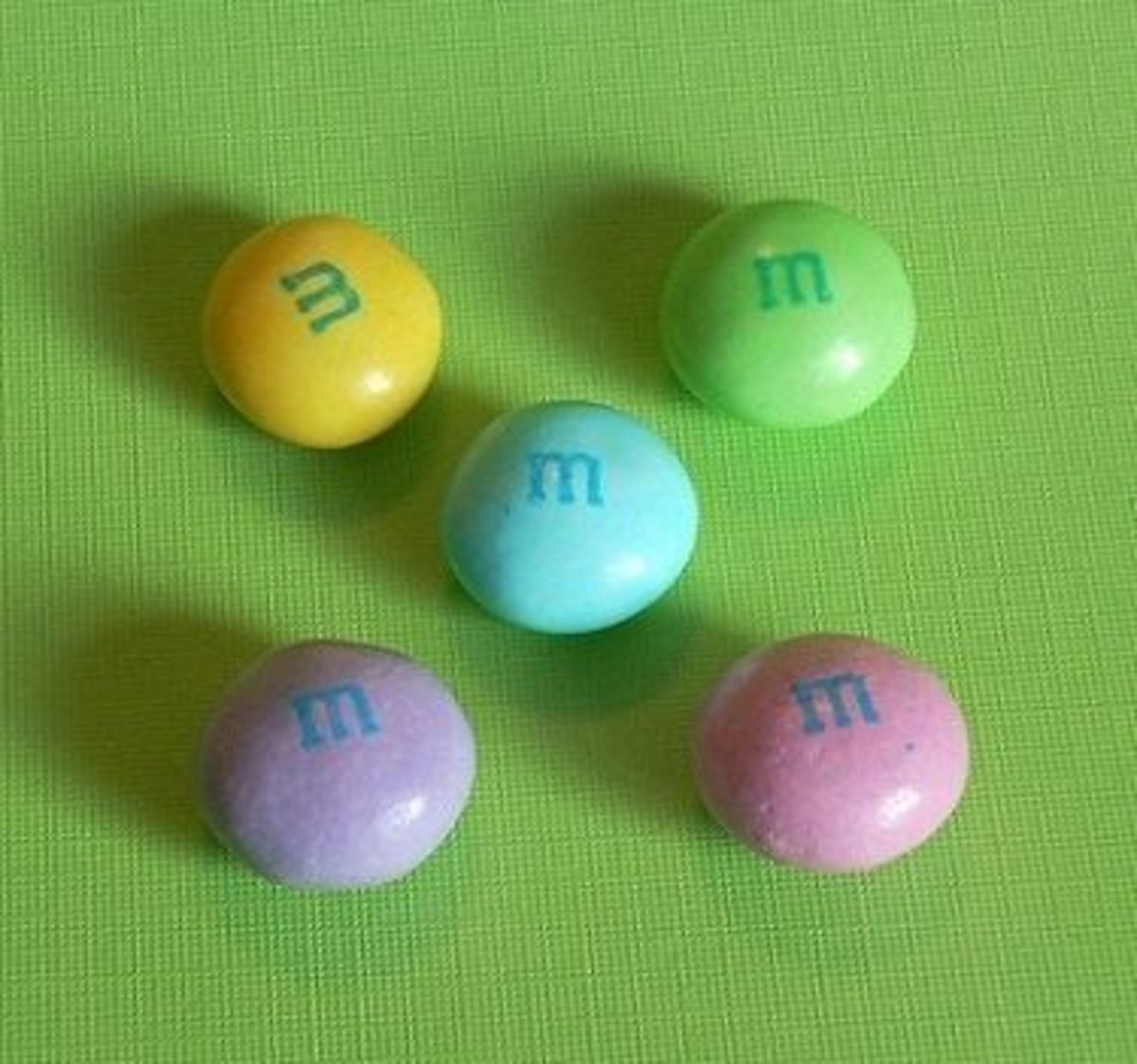 Pastel colors of White Chocolate M&M's Easter Bags