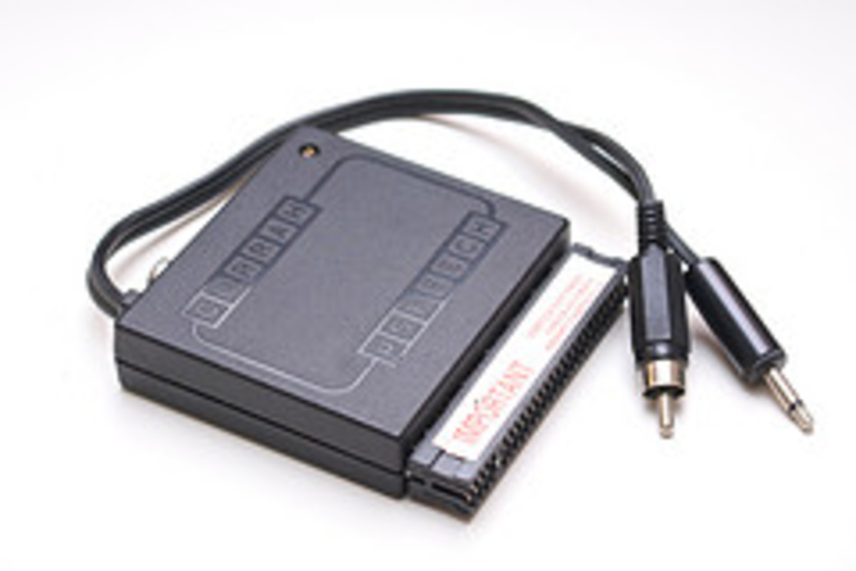 The Currah Microspeech unit ready to plug and play