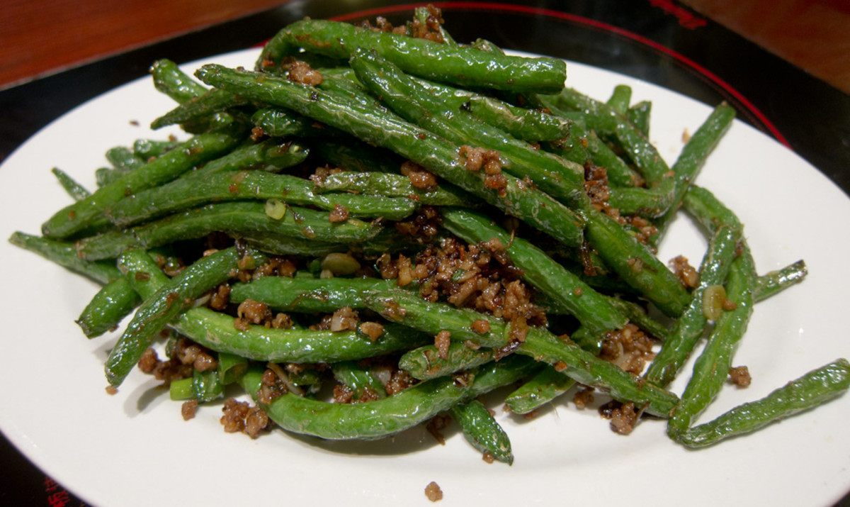 Sichuan Dry-Fried Green Beans Recipe (Gan Bian Si Ji Dou)