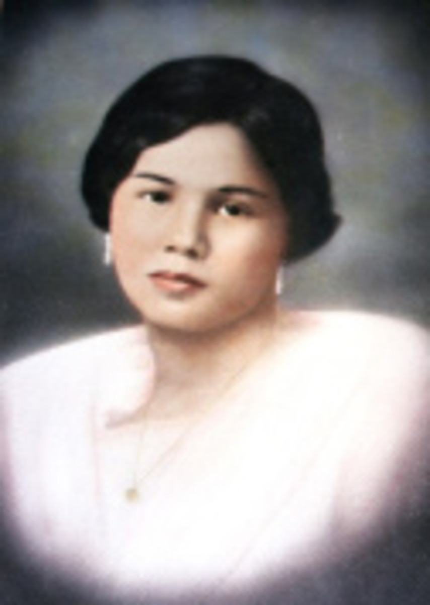 Felicidad Arguelles Limjoco. She was a simple woman. Not as glamorous as her sister Amparo. But then again she had 11 children to raise, and unlike her sister who lived in Manila society, she lived in the provinces.