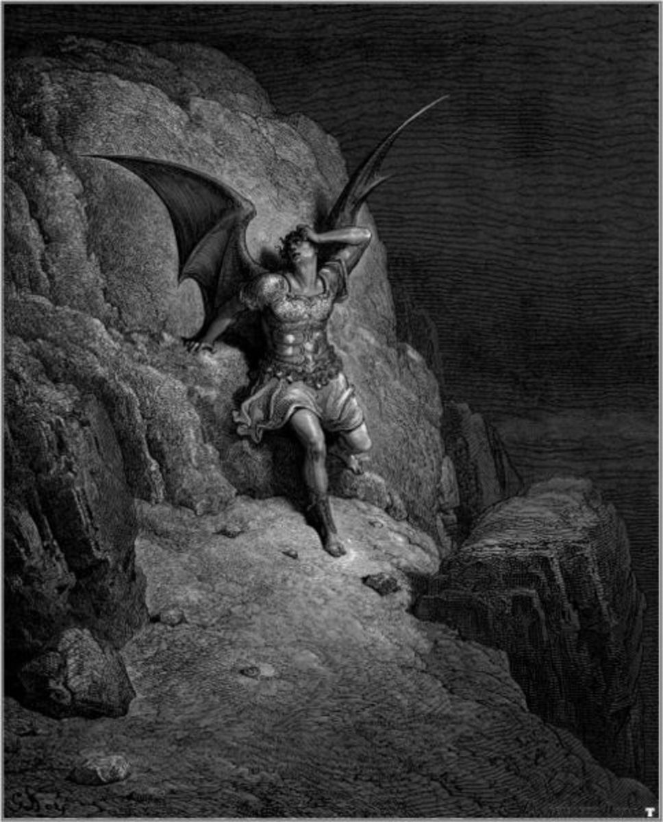 """Illustration for John Milton's """"Paradise Lost"""" by Gustave Doré, 1866."""