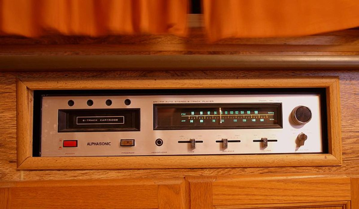 8-Track player...