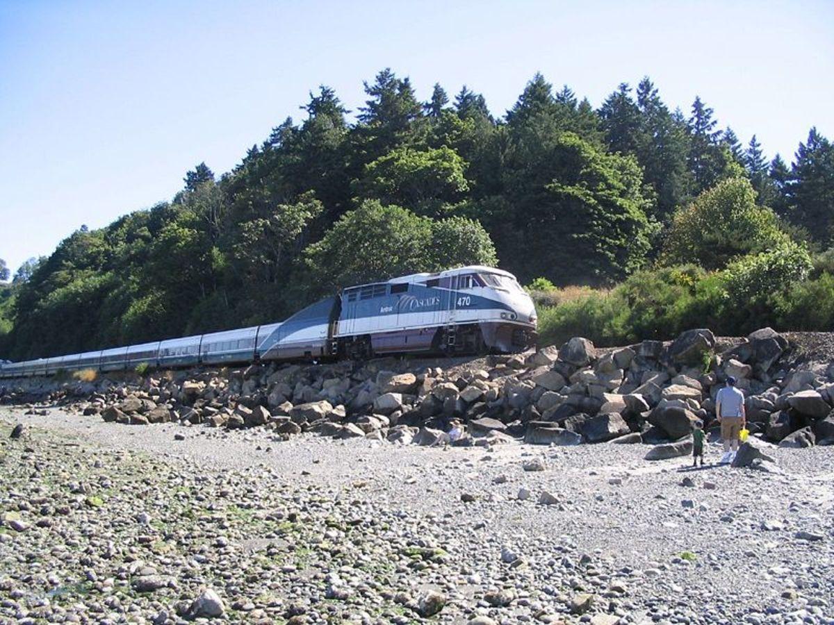 Amtrak Cascades at Carkeek Park