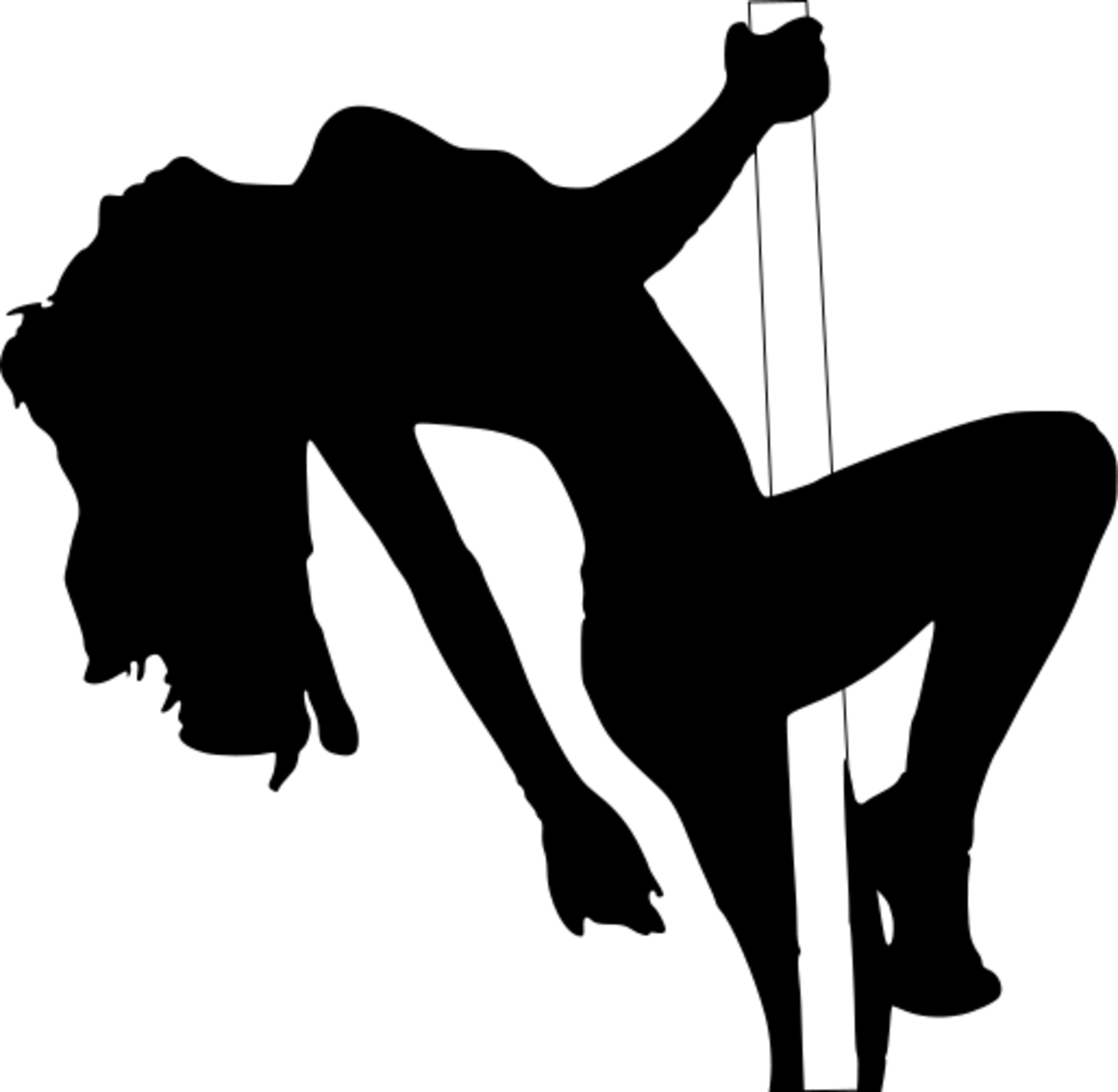 A silhouette of Stripper on a Pole